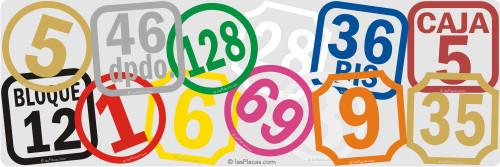 numeros para portal en vinilo
