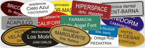 placas grabadas con alfiler